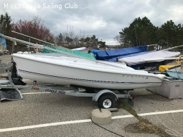 2004 Hunter 146 with sails, gear and trailer